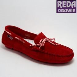 Mokasyny Nessi 18307 czerwone