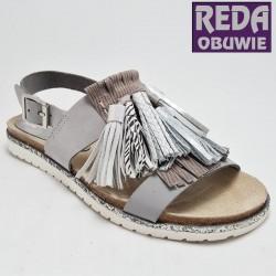 Sandały Nessi szare 19569