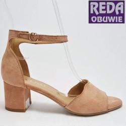 Ryłko sandały 5DDB1 różowe