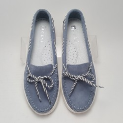 Mokasyny Nessi 19507 niebieskie
